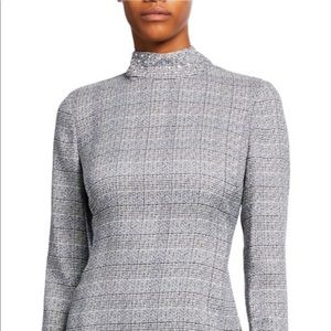 Karl Lagerfeld Paris Ivn Dress plaid w Stud Detail